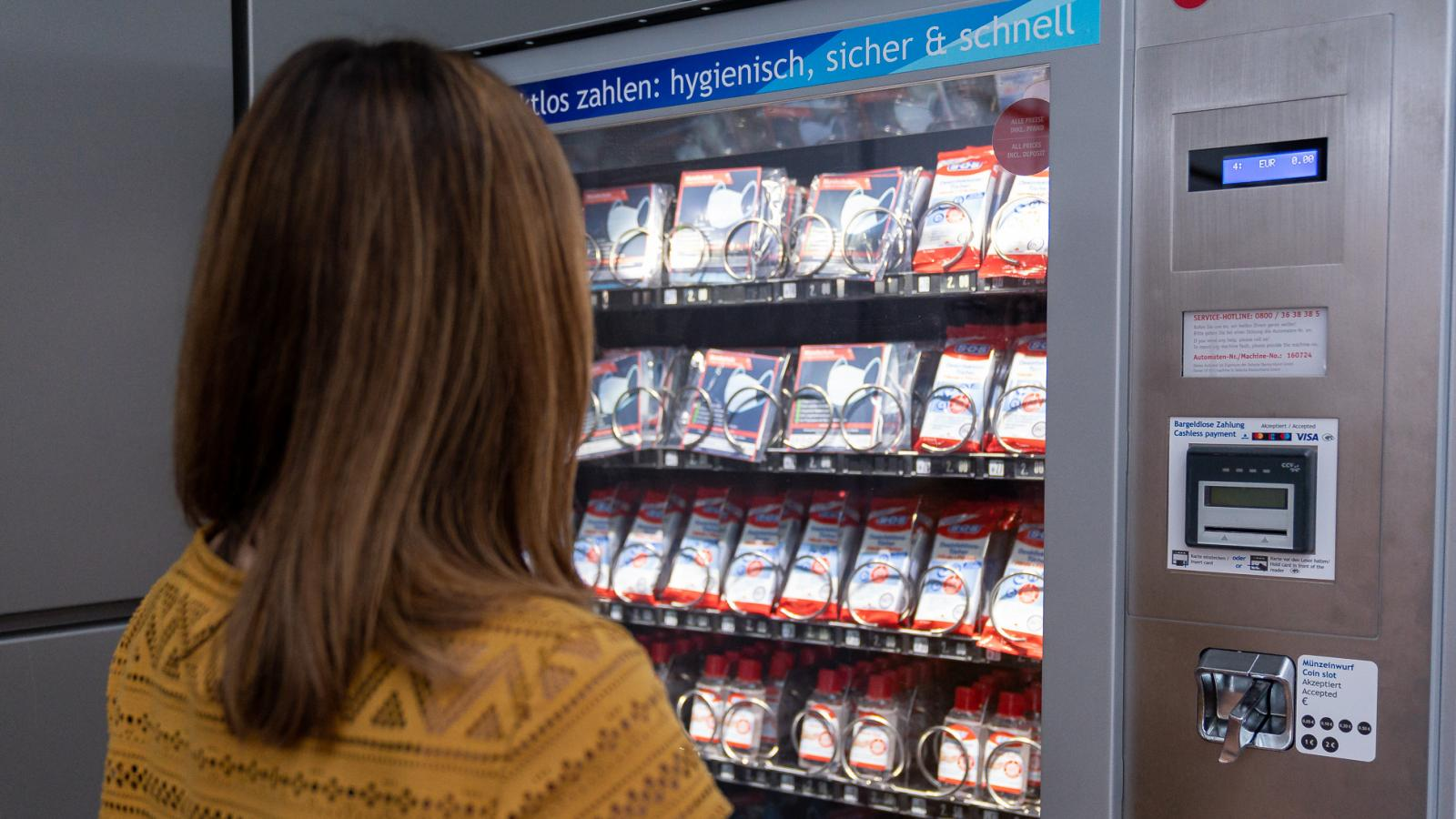 Hygiene vending machine at Hamburg Airport