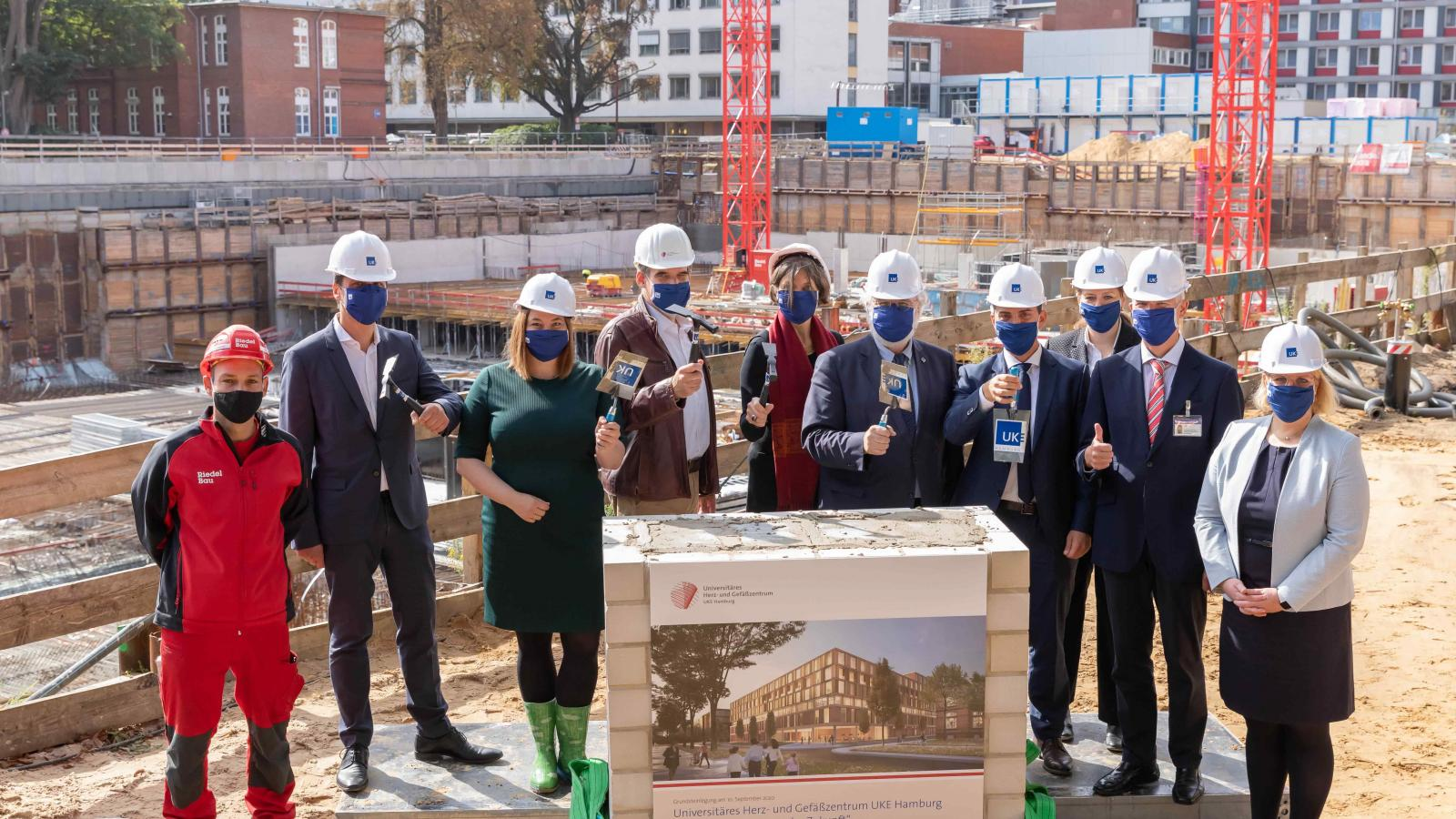 Laying of foundation stone for UKE's Heart and Vascular Centre